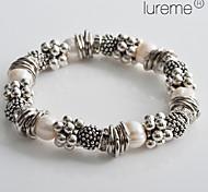 mode bracelet de perles argentées de lureme®women