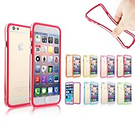Soft High Quality Silicone Protective Bumper Frame Case for iPhone 6 Plus (Assorted Color)