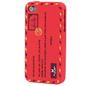 Envelope Silica Soft Case for iPhone 4/4S (Assorted Color)