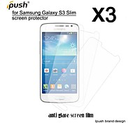 hohe Transparenz matt lcd-Schirmschutz für Samsung-Galaxie s3 schlank / g3812 (3 Stück)