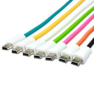 1M 3.28FT USB2.0 Male to Mini 5Pin USB2.0 Male Colorful Soft USB2.0 Data Connection Cable