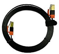 2m cabo de rede 6,56 pé cat7 cabo de conexão de rede de fibra óptica blindagem plano de ouro de placa de alta velocidade