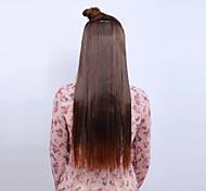 vívida largo de color marrón claro ang pinza recta de moda en la extensión del pelo con 5 clips