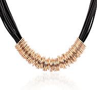 Heavy Metal Fashion Circle Pendant Necklace