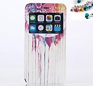 цветной рисунок или узор, чехол ПУ для всего тела с пыле Разъем с окном для iphone 6 плюс