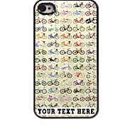 Personalized Phone Case - Bike Design Metal Case for iPhone 4/4S