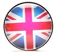 gem tempo broche britânico cabochão de vidro da bandeira nacional (1 peça)