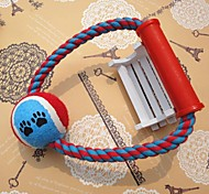 1шт товаров для домашних животных хлопка веревку с мячом собака игрушка игрушки жевать случайный цвет