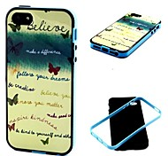 2-in-1 Believe Your Dream Phrase Pattern TPU Back Cover with PC Bumper Shockproof Soft Case for iPhone 5/5S