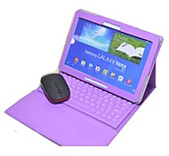 Silicone Case Wireless Bluetooth Keyboard Leather Case Cover for Samsung Note 10.1 P600(Assorted Colors)