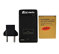 Minismile™ US/EU Plug USB Battery Charger  with 3450mAh Battery  for Samsung GALAXY S4 MINI / I9190