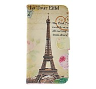 FITIN® Eiffel Tower Style Pattern PU Leather Case with Card Slot and Stand for Samsung Galaxy S5 Mini