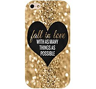Gold Heart Pattern Back Case for iPhone 4/4S
