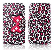 Attractive Leopard Print Pattern PU Leather Full Body Cases with Stand for Huawei Ascend Y550