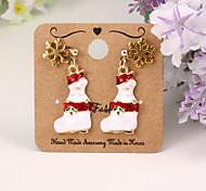 racchette da neve di Natale materiale ambientale della lega d'oro orecchino di goccia di moda (4 pezzi)