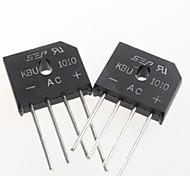 KBU1010 Flat Bridge Rectifier Bridge 10A / 1000V (5Pcs)