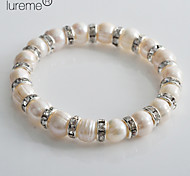 Lureme®Women's Fine Silver and Pearl Bracelet