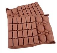 30 отверстий форма решетки медведь торт лед желе Формы для шоколада, силиконовая 18 × 12,5 × 2 см (7,1 × 4,9 × 0,8 дюйма)