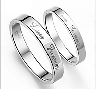 925 Sterling Silver Love Forever Love Couples Ring A Pair To Sell