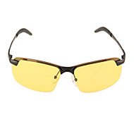 Sunglasses Men / Women / Unisex's Classic / Sports / Fashion Rectangle Yellow Sunglasses / Driving / Night Vision Goggles Half-Rim