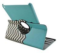 moda modelo de onda pintado de la PU de la tableta protege el caso con el soporte para el ipad 2 del aire