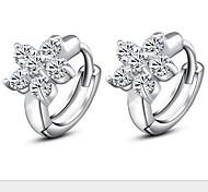 925 Sterling Silver Lovely Snow Stud Earrings