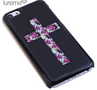 Flower Cross Pattern Back Case for iPhone 5C