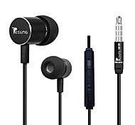 beboncool volumen de 3,5 mm bajo sobrepeso controlable auricular estéreo in-ear con el mic para celulares samsung (colores surtidos)