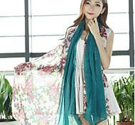 Vente en gros foulard mode vent rurale roses de grande taille imprimés