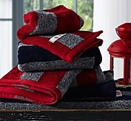 3pcs sensleep® toalhas de mão Pack, design preto ou vermelho listra 100% algodão toalha de mão