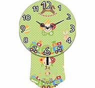 Casual Hobbyhorse Wooden Round Wall Clock