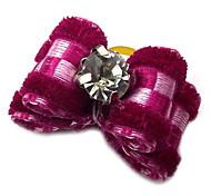 Bungee schönes Plaid bowknot konfetti für pommersche / Teddy (rot / lila / rose)