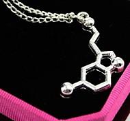 European Chemical Bond  Alloy Pendant Necklace(Silver) (1 Pc)