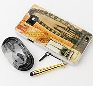 London Eye Style Hard Back Case with Stylus and V8 Cable for Samsung Galaxy S2 I9100
