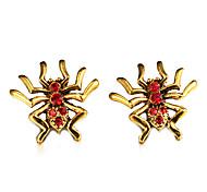 klassische Spinne goldener Legierungsbolzenohrring (1 Paar)