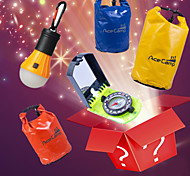Goody Bag Package Sellings(LED Camping Light+Clamshell Compasses+Waterproof Backpacks with Nets) (Random Colors)