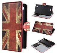 Retro Union Jack PU Leather Case Cover with Stand and Card Slot for Sony Xperia E3 D2203 D2206