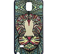 Doopootoo™ Animal Lion Face Tribe Pattern Plastic Back Hard Case Cover For Samsung Galaxy Note 4