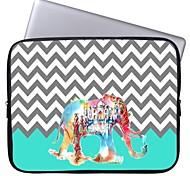"""elonbo Chevron und Schloss Elefanten 15 """"Laptop wasserdicht Hülle für MacBook Pro Retina dell hp acer"""