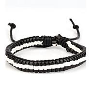 alta moda in pelle dura braccialetto bianco e nero (1 pezzo)