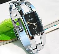 Women's Square Dial Alloy Band Quartz Bracelet Watch (Assorted Colors)