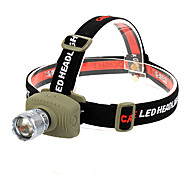 GOREAD GD52 3-Mode 1x CREE XM-L Q5 Zoom Headlamp(3*AAA,Green)