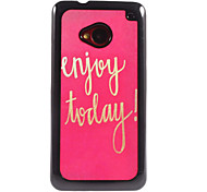 Enjoy Today Design Aluminium Hard Case for HTC M7