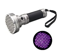 Huntereyes™ 100 LEDs UV 395-410NM Black Light Flashlight for Sterilize Flashlight/ Nail Gel Flashlight Grey