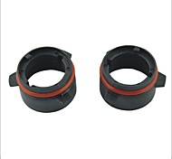 Car D2 HID Xenon Head Bulb Conversion Adapters Sockets Black for BMW E39 3 Series 528 525(2pcs)