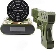 1 Set Gun Alarm Clock Shoot Alarm Clock Gun O'Clock Lock N Load Target Alarm Clock