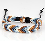 Fashion Braided Bracelet Simple and Comfortable Blue White Brown (1 Piece)