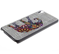 Elephant Pattern PC Hard Case and Phone Holder for HTC Desire 820