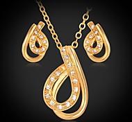 plateado u7® oro verdadero 18k de cristal rhinestone únicos collares colgantes perno pendientes de la manera sistemas de la joyería