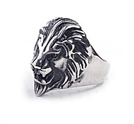 Z&X®  European Style Lion Titanium Steel Men's Statement Ring